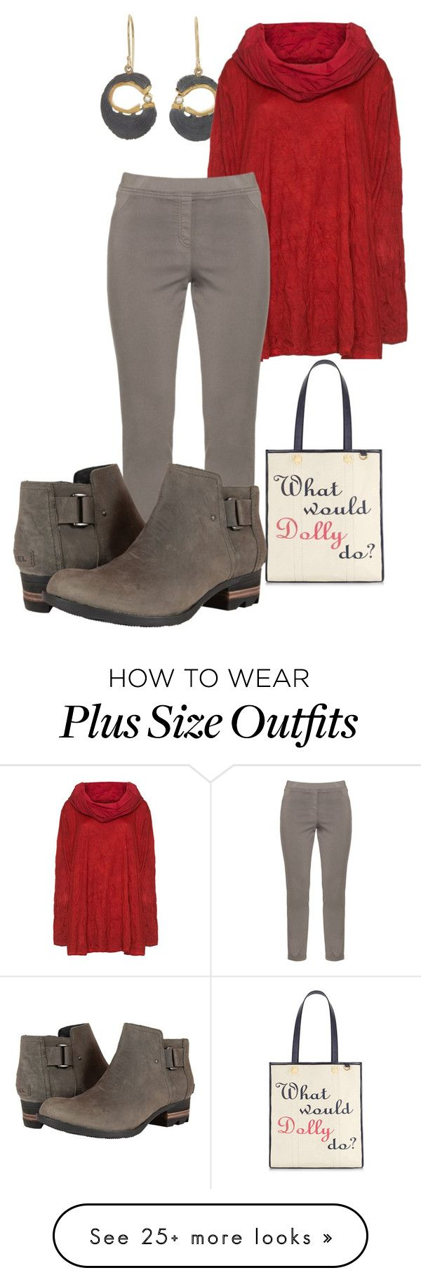 """plus size nikki"" by aleger-1 on Polyvore featuring Jamie Joseph, Barbara Speer, KJ Brand, Draper James and SOREL"