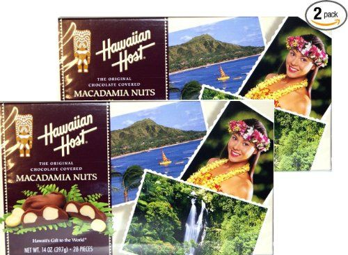 Hawaiian Host The Original chocolate Covered MACADAMIA NUTS BOX 14 OZ (397 g) Pack of 2 ** See this awesome image @ : Fresh Groceries