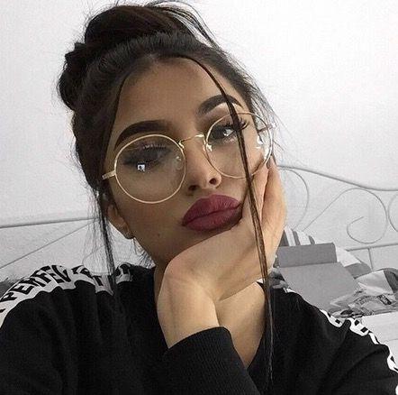 Oculos redondo dourado
