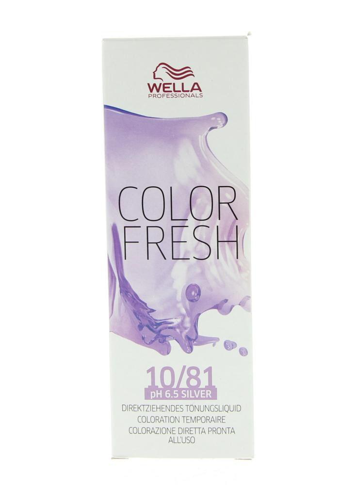 Wella Professionals Color Fresh Semi-Permanente Toning Haarkleuring 8.81 Licht Blauw As Blon 75ml  Wella Professionals Color Fresh Semi-Permanente Toning. Deze semi-Permanente Toning is ideaal voor het opfrissen van de haarkleur tussen twee kleurbehandelingen in voor kleurcorrectie en om kennis te maken met een kleurbehandeling. De kleur blijft tot wel 10 wasbeurten mooi. De behandeling is niet schadelijk voor het haar door de zachte pH waarde en is ammonia vrij. Daarnaast hydrateert en…