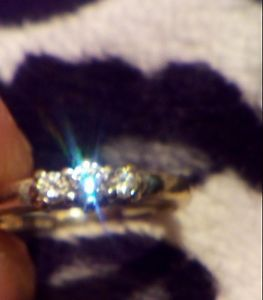 Women White Gold 10k Vintage Ring Size 7.5