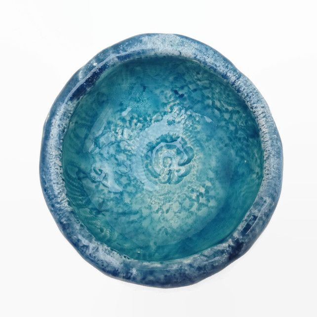Small Ceramic Dish with Teal Glaze £7.00