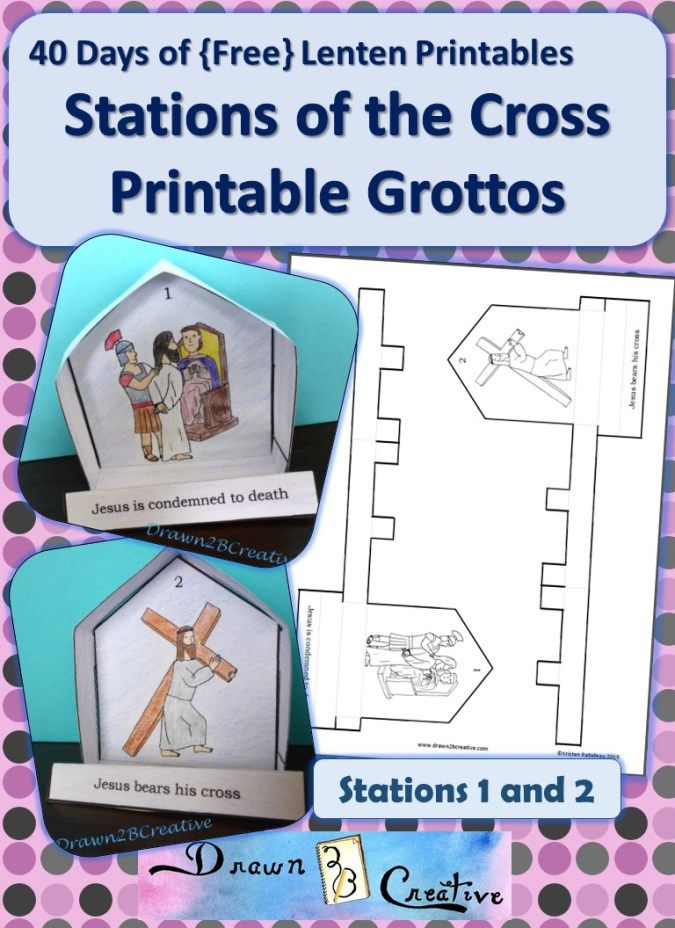 Printable 3-D Stations of the Cross Grottos. Such a great idea, awesome artwork and FREE!!! I am soooo excited about this set!!!