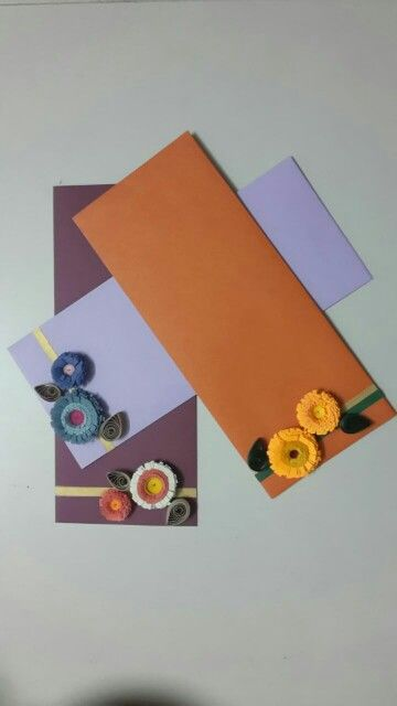 Quilling on envelopes