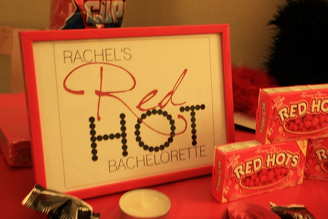 8 best images about red hot bachelorette or birthday party for Bachelorette decoration
