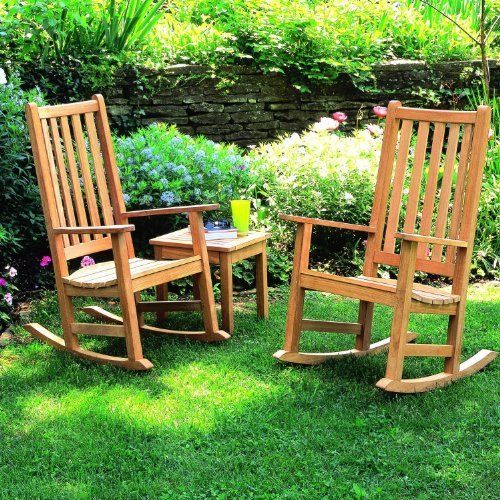 Oxford Garden Franklin 2-person Wood Rocker Patio Conversation Set by Oxford Garden. $867.30. Comes prepared for easy assembly. Set Includes: End Table, 2 Rocking Chairs. Fine sanding introduces a smooth, splinter-free surface. Shorea wood is known for its superior weather resistance. Oxford Garden Franklin 2-Person Wood Rocker Patio Conversation Set. FRCH(2) + CDET. Wooden Conversation Sets. This Franklin rocking chair patio set features the crisp look of Shorea wood. Li...
