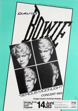 David Bowie Serious Moonlight Concert 1983 - original vintage poster listed on AntikBar.co.uk