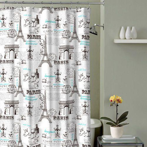 Paris Shower Curtain Grey