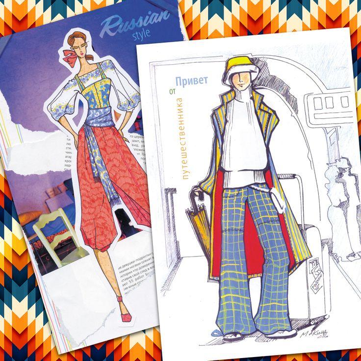 Illustrations for post-crossing cards www.postcardpress.ru