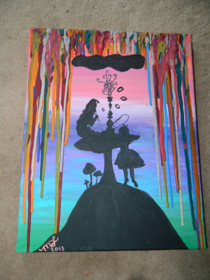 Alice in Waxland Silhouette Painting. $40.00, via Etsy.