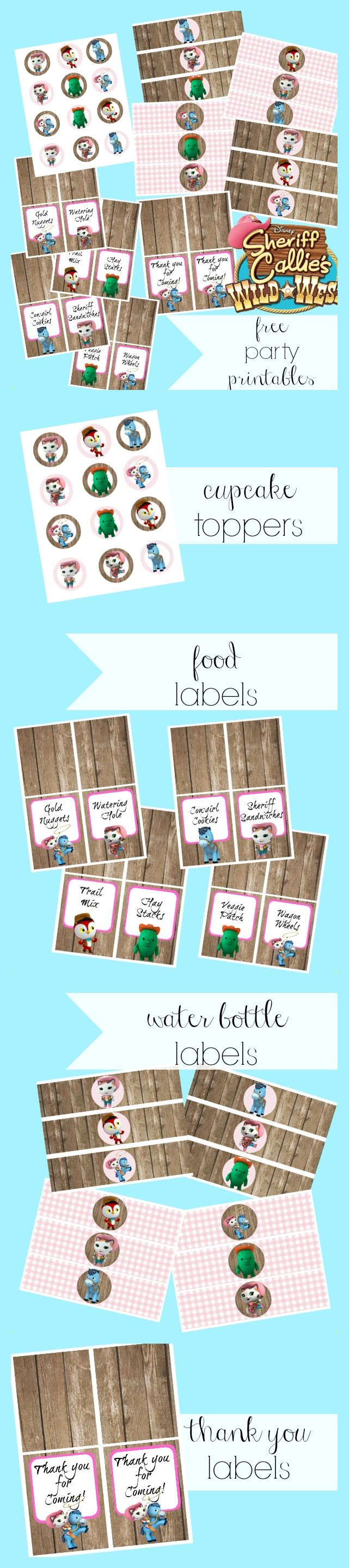 Sheriff Callie Party Printables