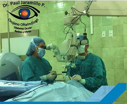 BIENVENIDOS A LA MEJOR ATENCIÓN PARA TUS OJOS. Quito Ecuador.  Dr. Paul Jaramillo Cirujano Oftalmólogo Retina Vítreo Diabetes Ocular Catarata Láser Oftalmología