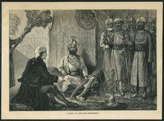 Hyder Ali and the Missionary, An engraving from an English book