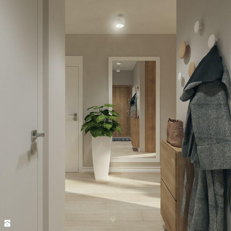 Hol- wodk z wejścia do mieszkania - zdjęcie od Karolina Krac architekt wnętrz - Hol / Przedpokój - Styl Nowoczesny - Karolina Krac architekt wnętrz