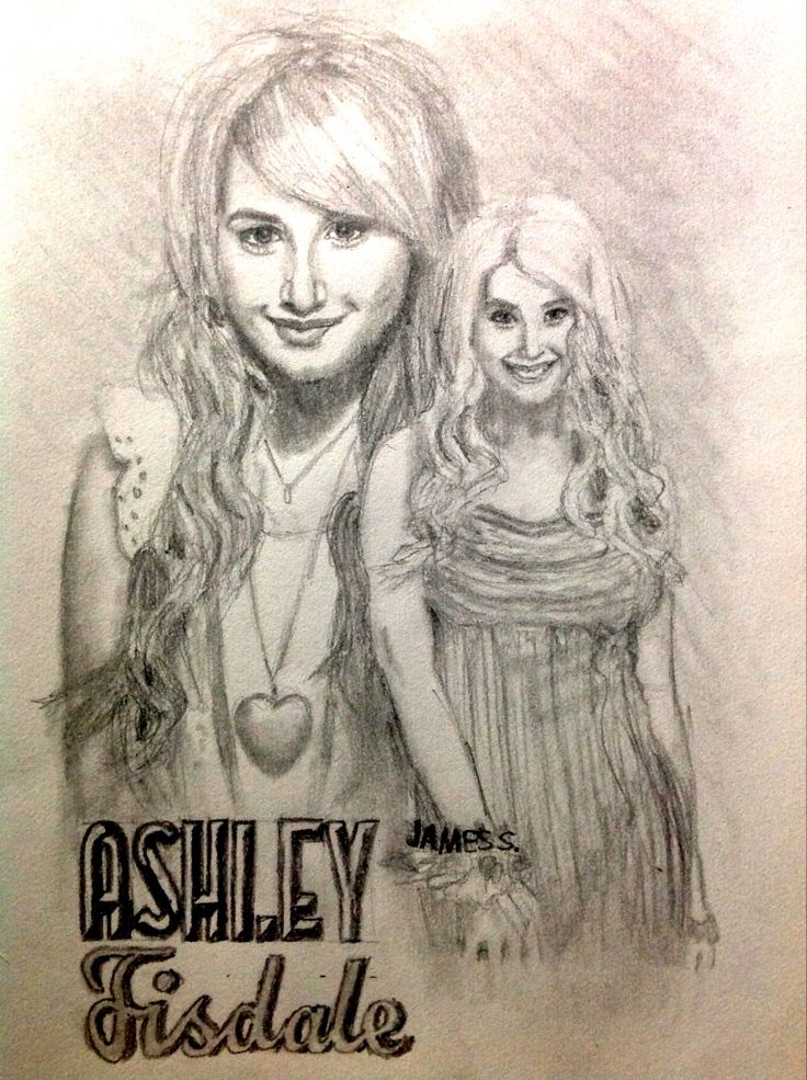 Celebrity Sketch of Ashley Tisdale (reference to 'High School Musical 3')