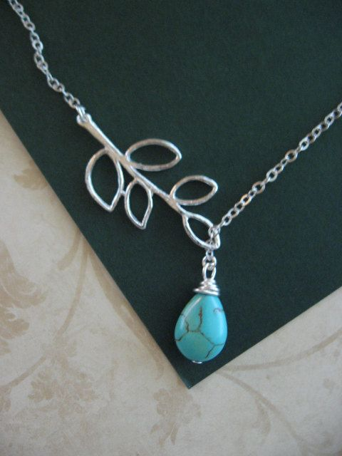 Love a Lariat!: Collection Jewelry, Teardrop Necklaces, Julie S Jewels, Turquoise Teardrop, Turquoise Lariat, Jewelry Addiction, Lariat Necklaces, Jewelry Turquoise, Silver Branches