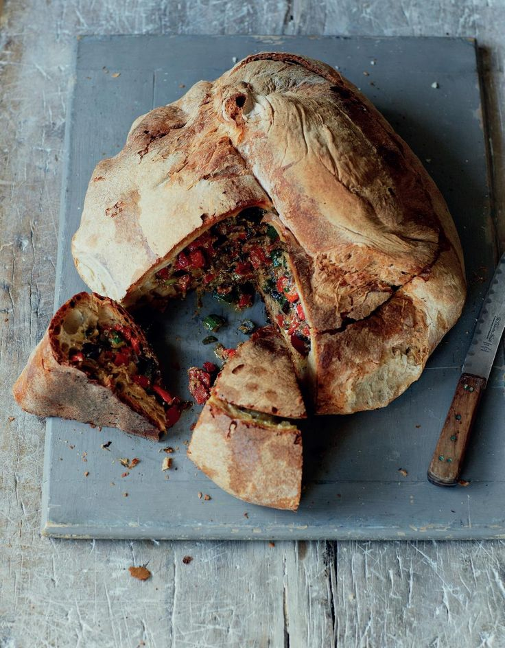 This amazing Ciambotta di Verdure (Pan-Fried Vegetables Served in Bread) from award-winning chef Francesco Mazzei is an intriguing twist on a sandwich. Hailing from southern Italy, this hearty lunch or snack combines flavoursome sourdough bread with mixed, eggy vegetables for a more-ish treat that will please both children and adults.