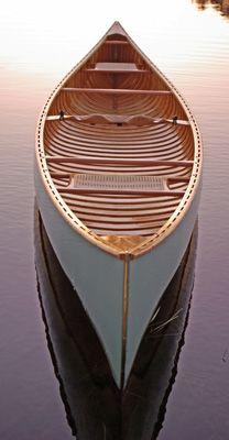 Mon Ami, wood and canvas canoe 16' 6