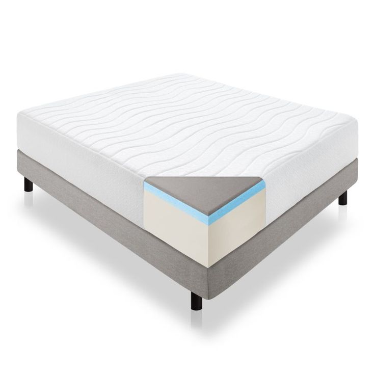 The Feel This Plush Mattress Is All About Comfort At Surface A 1 Inch Layer Of Bamboo Charcoal Infused Memory Foam Quilted Into Cove