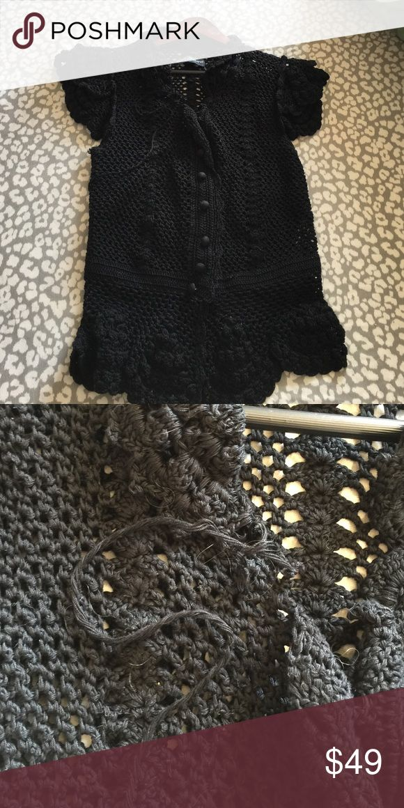 DOLCE & GABBANA knitted outerwear Black knitted outerwear. Part of collar unraveling. Pic shown Dolce & Gabbana Other