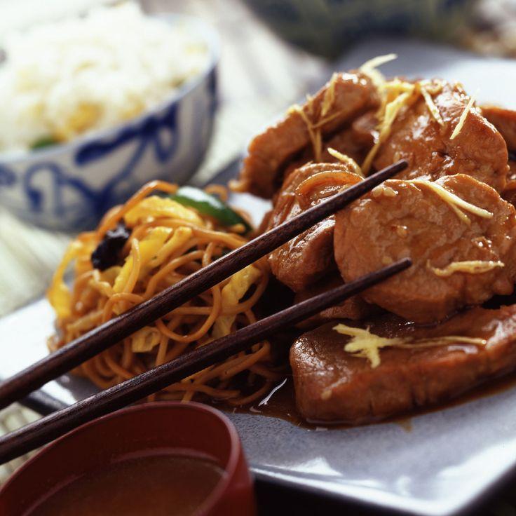 Découvrez la recette du porc au gingembre
