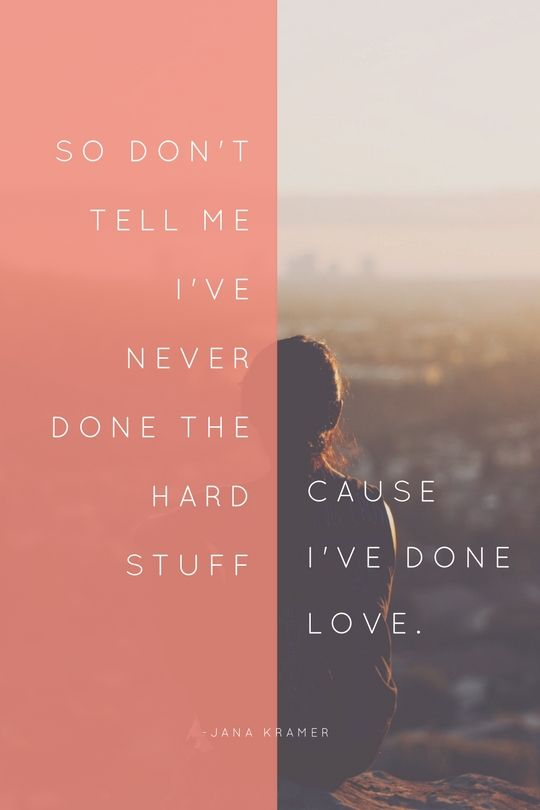 "Loving Jana Kramer's new song, ""I've Done Love"""
