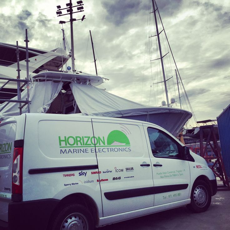 Out in the #Shipyard first thing this morning.   It's the busiest time of year here in STP Palma and our electronics engineers are flat out with VSAT, Navigation systems, and Comms Systems servicing and installations.  Horizon Marine Electronics have just been awarded the exclusive partnership rights to NSSLGlobal Systems in the Balearics. Get in touch to hear all the benefits by contacting chris@horizonme.eu  #MarineElectronics www.horizonme.eu