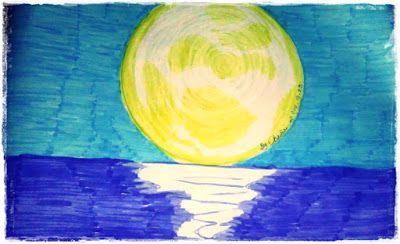 Chili87's World: Rajzaim Fullmoon, moon, pencil drawing,brush-pen drawing,