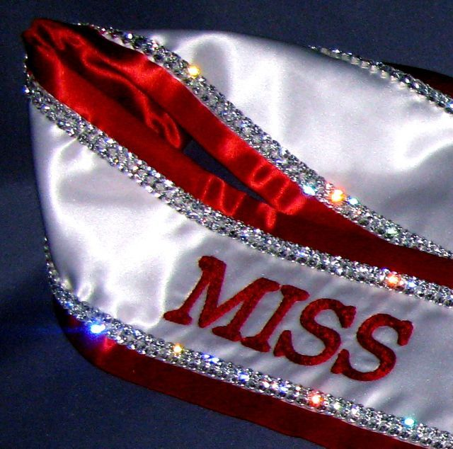 Pageant Sashes | Embroidered Pageant Sashes Cheap