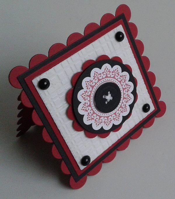 Stempeltechnik, Stampin' up Nostalgie Vintage Labels, Shaped Cards
