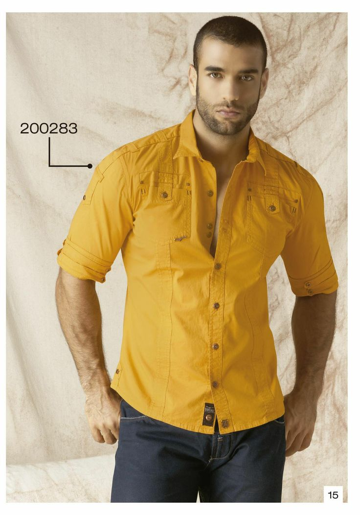 Camisa Manga Tres Cuartos Color Amarillo Ropa Para