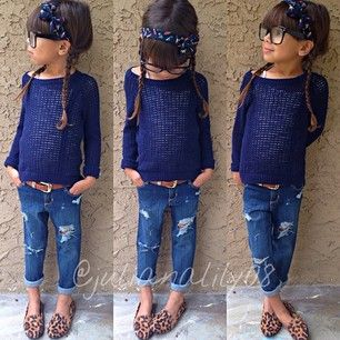 kids fashion #girl - Hoping my B is going to be a fashionista ---- doing looks for less :-)