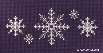 Snowflake Cross Stitch-I want to use this to make an afghan.