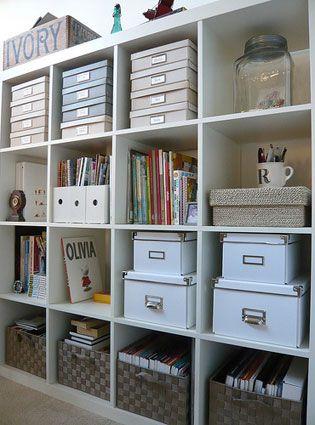 IKEA expedit - looks so organized