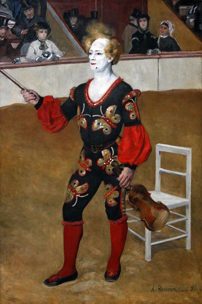 clowningaround:  Auguste Renoir (1841-1919), De clown, 1868 The clown, oil on canvas
