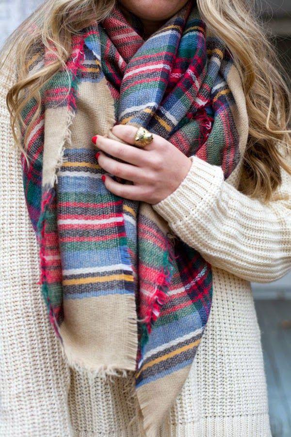 Zara tartan scarf: le maxi sciarpe in lana scozzese | Vita su Marte