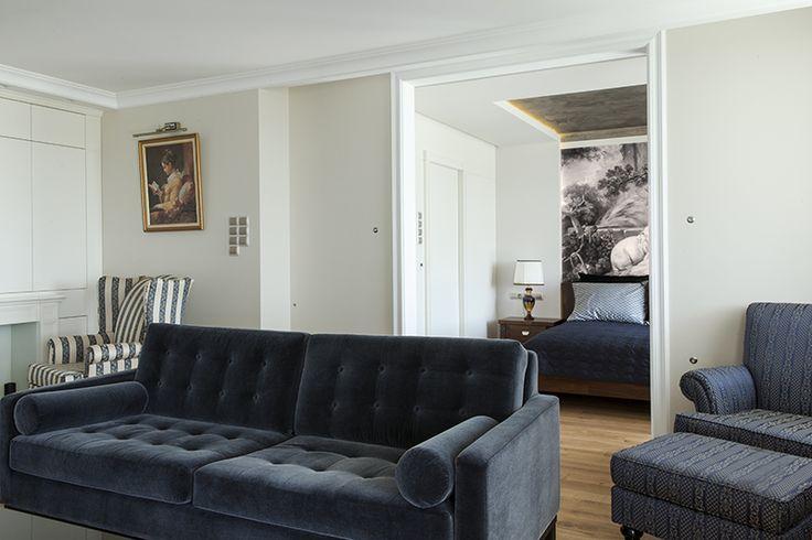 Mieszkanie w stylu klasycznym - luksusowe wnętrze - aranżacja wnętrz w stylu klasycznym. Zobacz więcej na www.amarantowestudio.pl