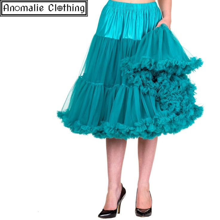 "Lifeforms 26"" Long Petticoat in Emerald"