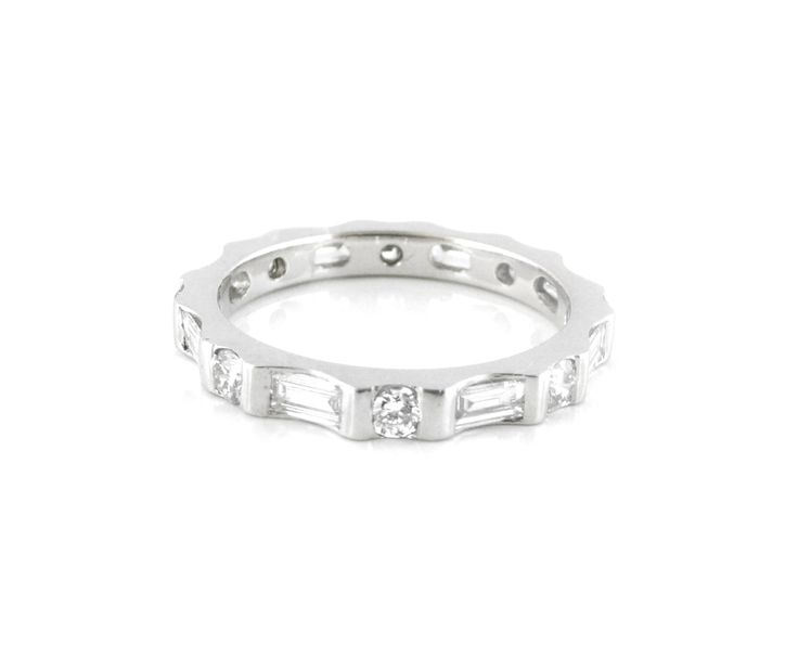 An 18ct White Gold and Diamond Full Eternity Ring