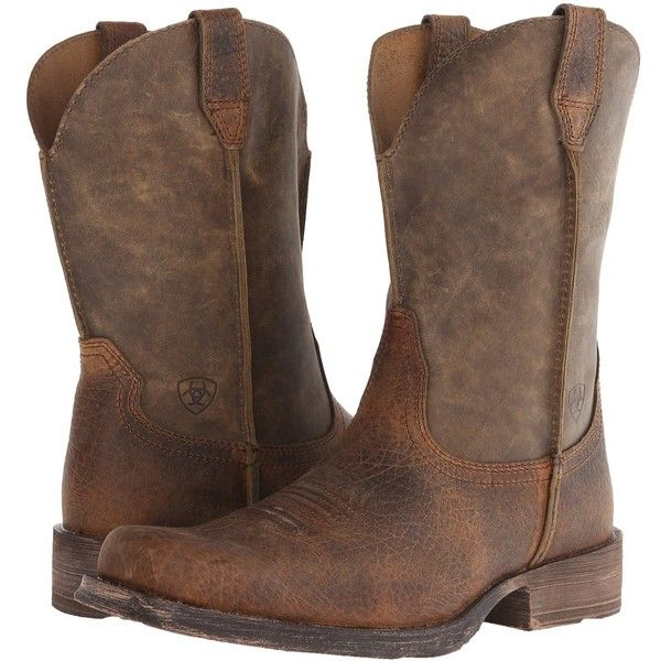 Ariat Men's Rambler Wide Square Toe Western Boot ($114) ❤ liked on Polyvore featuring men's fashion, men's shoes, men's boots, extra wide mens boots, mens square toe cowboy boots, mens western boots, mens square toe shoes and mens wide shoes