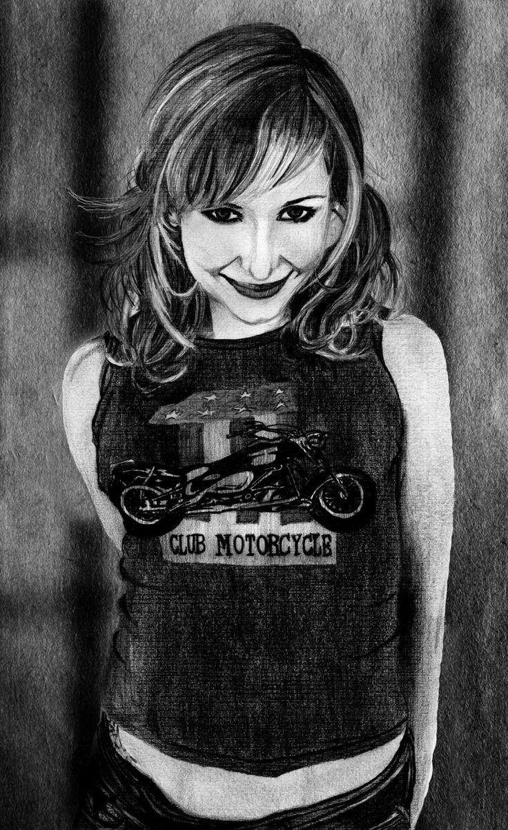 A Kari Byron Portrait by M4TiKo on DeviantArt
