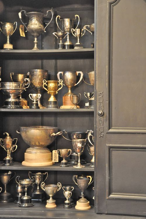 Trophyology approved! Antique trophies - in the Hemmingway room.
