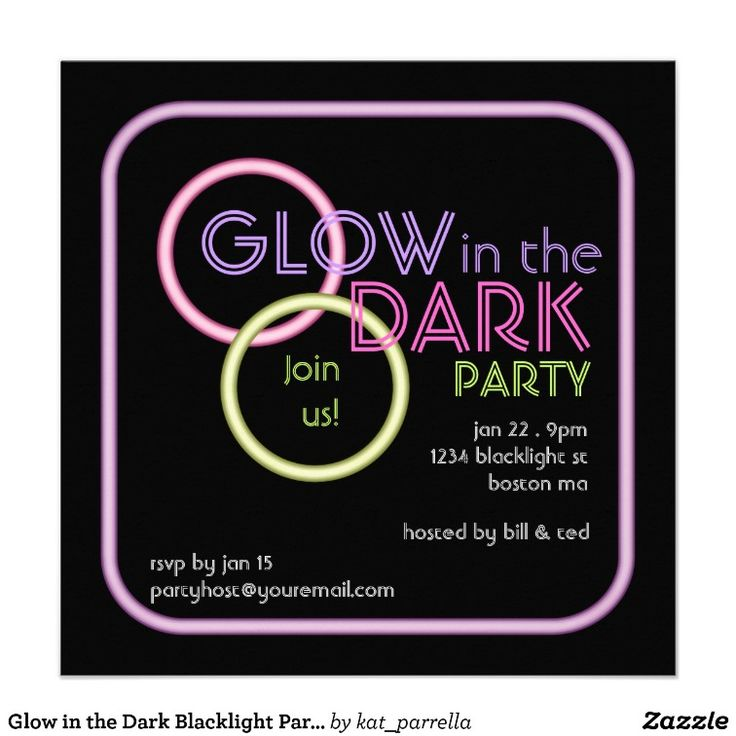 29 best glow party invitations images on pinterest | neon party, Party invitations