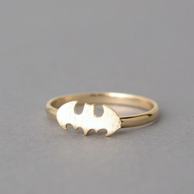 The Gold Batman Ring