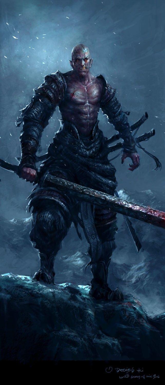 Ярость Меч Воины Лицо Шрамы