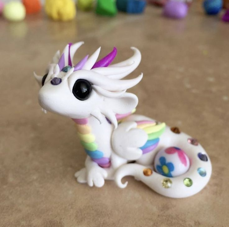 White Pastel Rainbow Dragon by Dragonsandbeasties