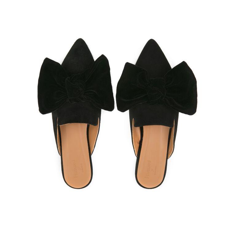 Flattered x Linda | Black Suede Slip-in