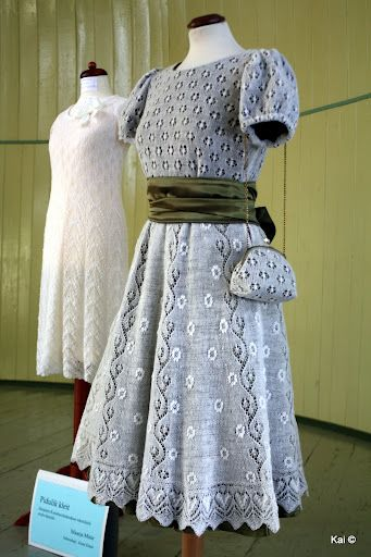 Dresses inspired by Haapsalu lace