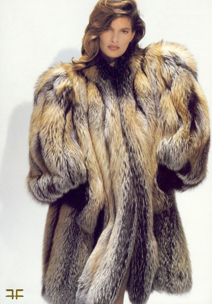 Classy Cross Fox Exotic Fur 5 White Fur Coat Fox Fur