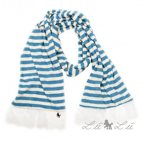 Lù Lù by #missgrant STRIPED SCARF WITH LACE. Sale 50% off Spring&Summer Collection! #discount